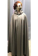 Cloak and Dagger Creations 4335 -  Taupe Grey Wool Full Circle Cloak, Matching Hood Lining, Pewter Clasp