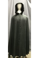 Cloak and Dagger Creations 4284 - Cloak in Grey Evenweave, Black Hood Lining, Pewter Vale Clasp