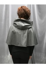 Cloak and Dagger Creations 4263 - Short Cloak in Heathered Grey, Black Hood Lining