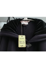 Cloak and Dagger Creations 4356 - Long Winter Cloak in Plum Wool, Black Hood Lining, Pewter Clasp