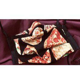 Cloak and Dagger Creations 3-Layer Pleated Face Mask - Pizza - Cotton & Silk