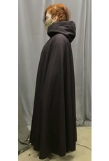 Cloak and Dagger Creations 4364 - Wind-Resistant Plum Full Circle Cloak, Black Hood Lining, Pewter Clasp