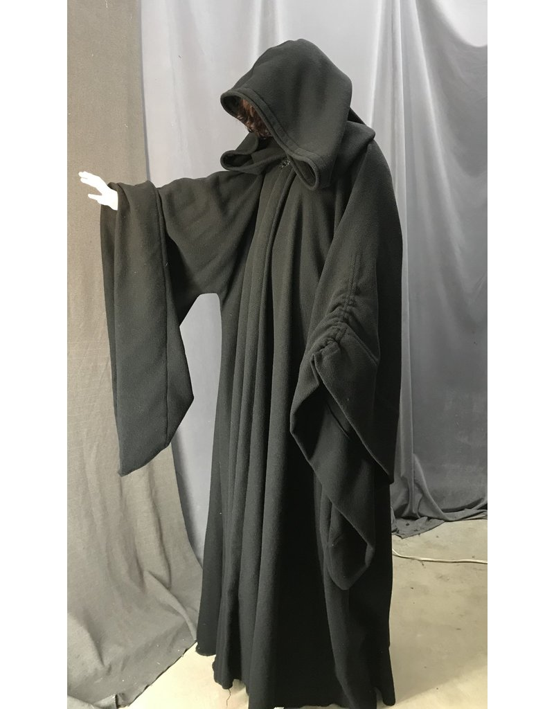 Cloak and Dagger Creations R471 - Black Wool XXL Emperor Palpatine Robe, Black Vale Closure