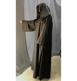 Cloak and Dagger Creations R483- Brown XL Wool Jedi Robe w/Pockets