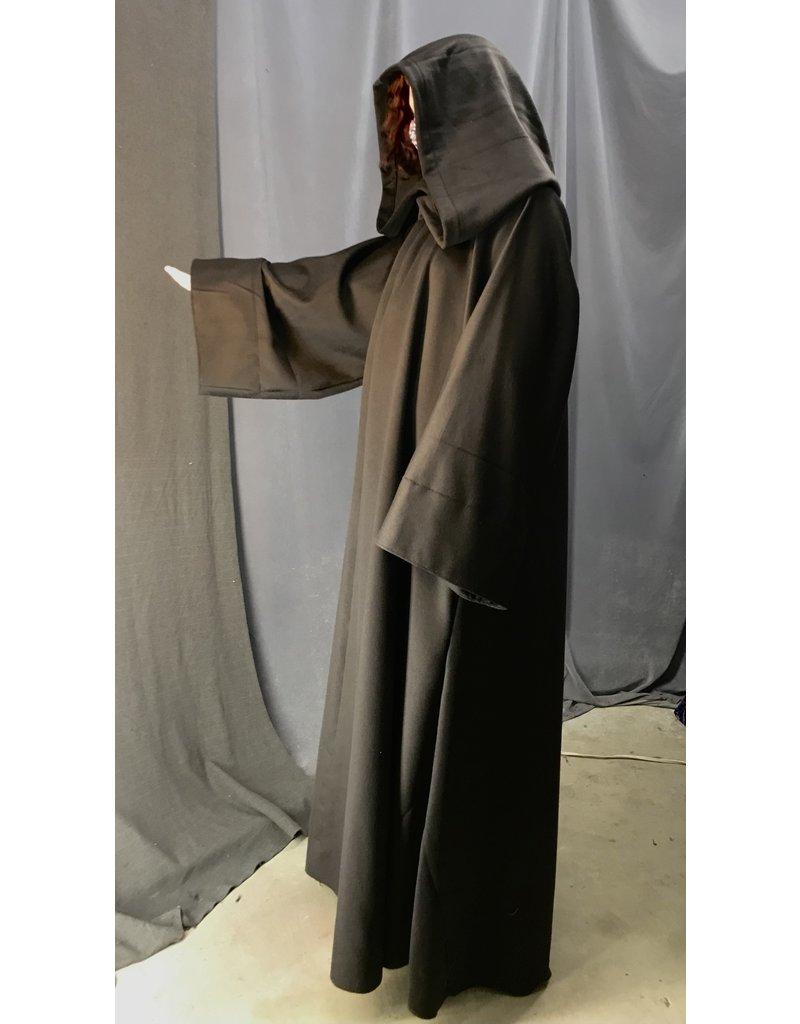 Cloak and Dagger Creations R483- Brown XL Wool Jedi Robe w/Pockets