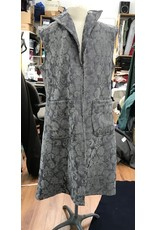 Cloak and Dagger Creations J708 - Easy Care Long Grey Brocade Vest w/Pockets