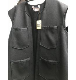 Cloak and Dagger Creations J710 - Black Woolen Vest w/Pockets