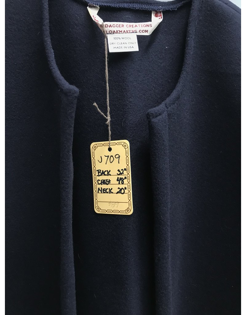 Cloak and Dagger Creations J709  - Navy Blue 100% Wool Vest