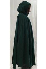 Cloak and Dagger Creations 4378 - Washable Green Woolen Full Circle Cloak, Purple Velveteen Hood Lining, Pewter Clasp
