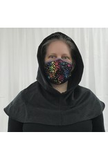 Cloak and Dagger Creations H288 - Hooded Cowl in Charcoal Grey Cashmere/Wool Blend