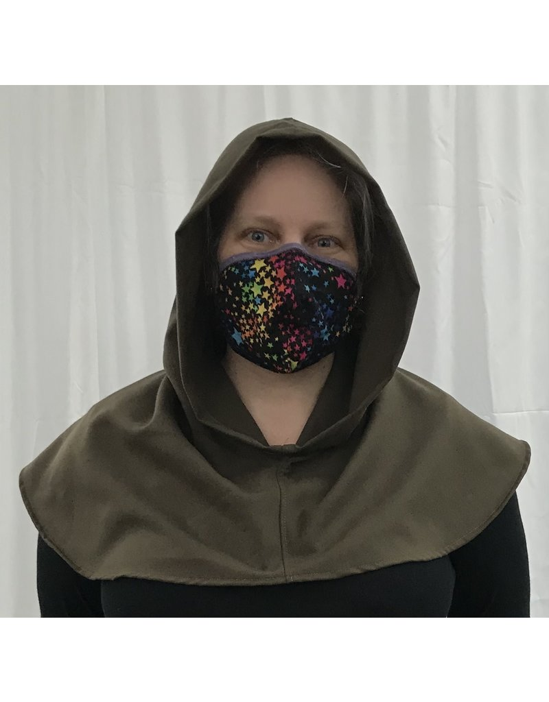 Cloak and Dagger Creations H289 - Hooded Cowl in Brown Washable Wool Suiting