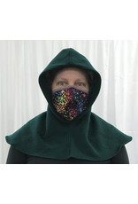 Cloak and Dagger Creations H291 - Hooded Cowl in Green Washed Wool