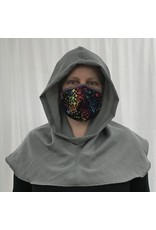 Cloak and Dagger Creations H292 -  Hooded Cowl in Grey Washed Woolen Suiting