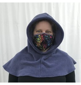 Cloak and Dagger Creations H294 - Hooded Cowl in Easy Care French Violet Fleece