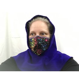 Cloak and Dagger Creations H274 - Hooded Cowl in Bright Blue Washed Wool