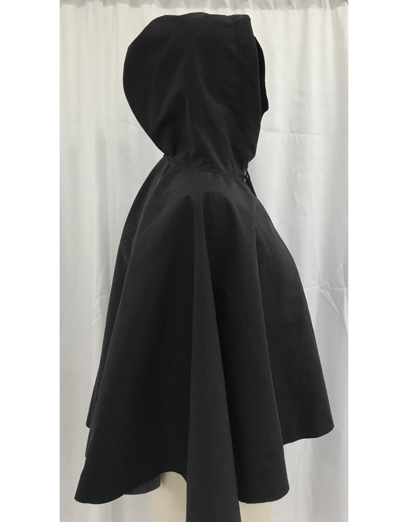 Cloak and Dagger Creations 4387 - Easy Care Grey Rain Cloak, 2 Snap Closure, Small