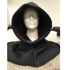 Cloak and Dagger Creations H279 - Black Waterproof Fleece Hooded Cowl