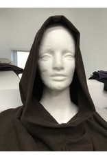 Cloak and Dagger Creations H300 - Washable Heathered Brown Woolen Hooded Cowl