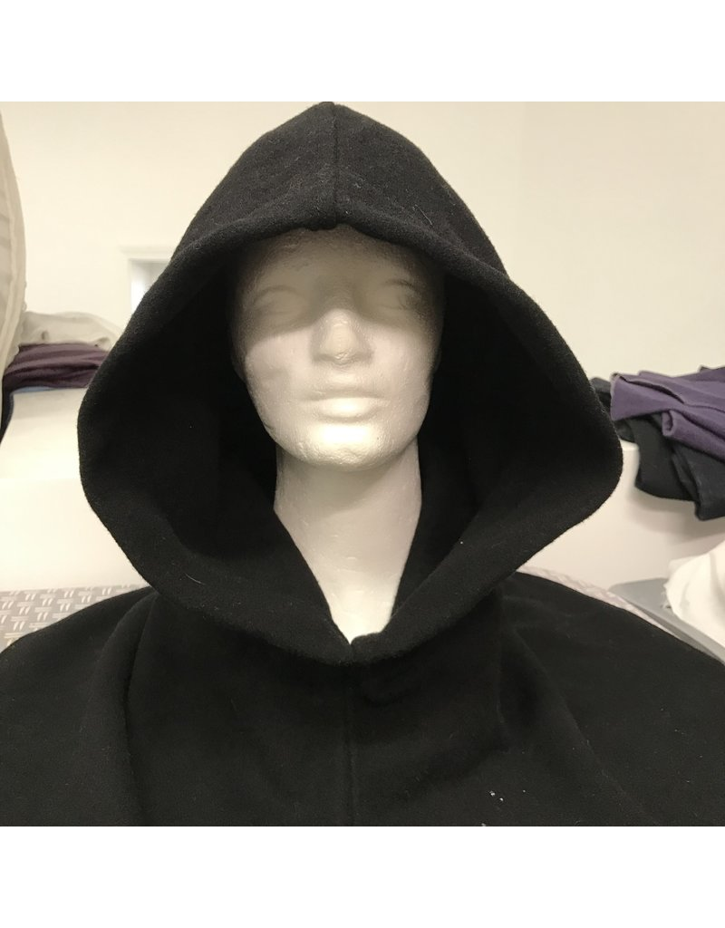 Cloak and Dagger Creations H297 - Hooded Cowl in Black Washed ?Wool?
