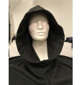 Cloak and Dagger Creations H301 - Easy Care Black Hooded Cowl