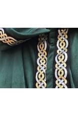 Cloak and Dagger Creations 4408 - Easy Care Trimmed Rain Forest Green Moleskin Full Circle Cloak w/Unlined Hood,  Snap Closure