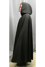 Cloak and Dagger Creations 4391 - Black Full Circle Cloak, Purple Hood Lining, Pewter Clasp