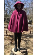 Cloak and Dagger Creations 4371 - Easy Care Raspberry Red Full Circle Cloak, Pewter Clasp