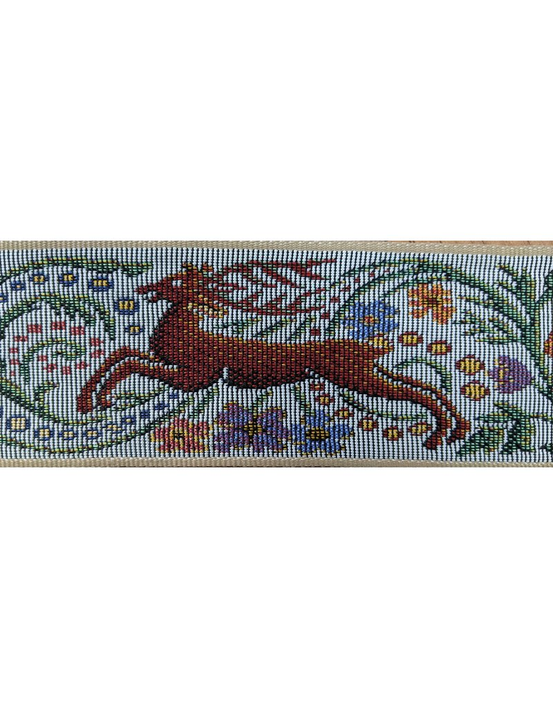 Cloak and Dagger Creations Hunt Tapestery Trim Grey  w/ Red Stag & Blue Horse