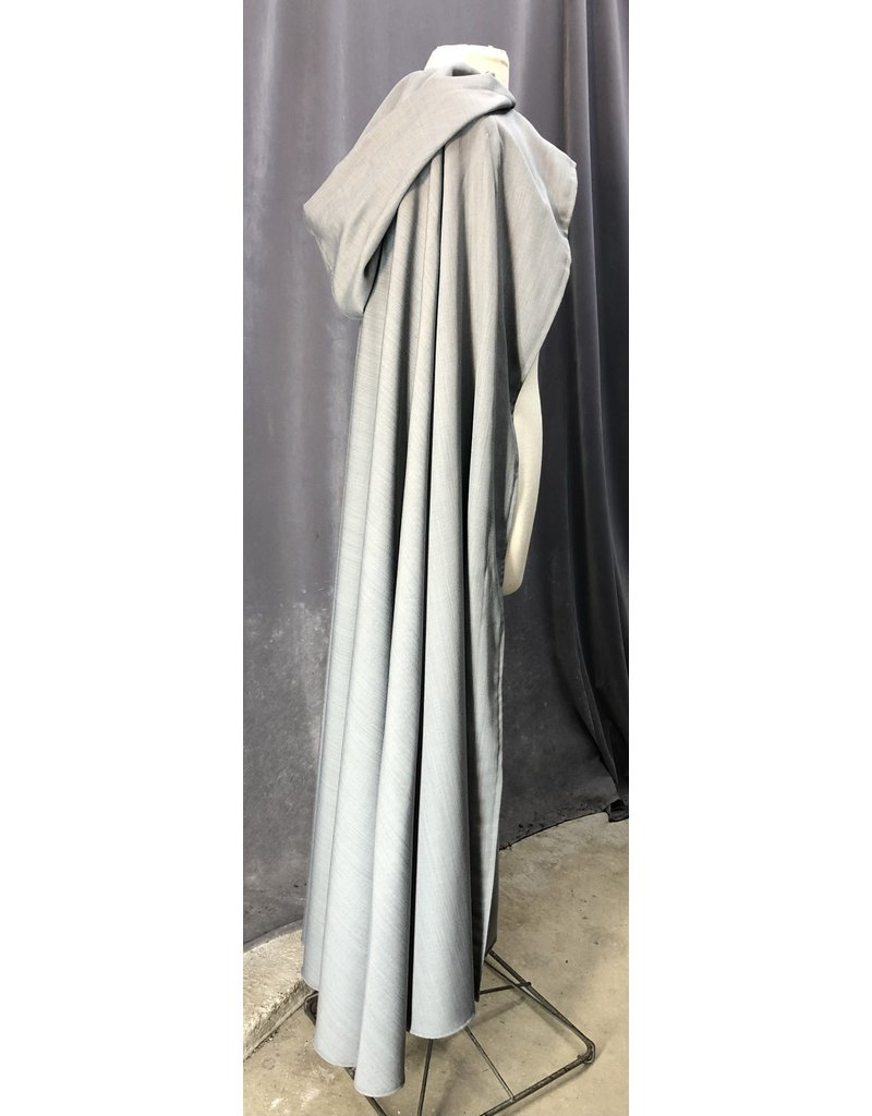 Cloak and Dagger Creations 4224 - Soft Grey Ranger/Hobbit's Cloak, Unlined Hood, Snap Closure behind Wood-look Buttons