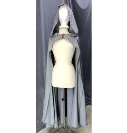 Cloak and Dagger Creations 4224 - Soft Grey Ranger/Hobbit's Cloak, Unlined Hood, Snap Closure behind Wood-look Buttons