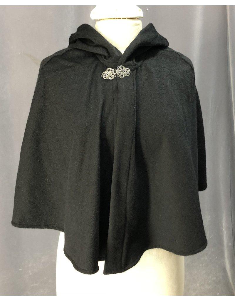 Cloak and Dagger Creations 4222 - Black Wool Shaped Shoulder Capelet