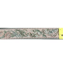 Cloak and Dagger Creations Floral Tapestry Trim , Pink w/Silver