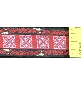 Cloak and Dagger Creations Red w/Pink Tiles Trim w/Gold accents on Black