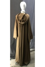Cloak and Dagger Creations R485 - Extra Long Washable Bronze Wool Jedi Robe w/ Modern Rope Clasp