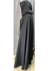 Cloak and Dagger Creations 4438- Washable Navy Blue Wool Ranger Cloak, Unlined Hood, Button Closure