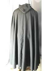 Cloak and Dagger Creations 4436 - Washable Black Full Circle Cloak, Unlined Hood, Pewter Vale-type Clasp