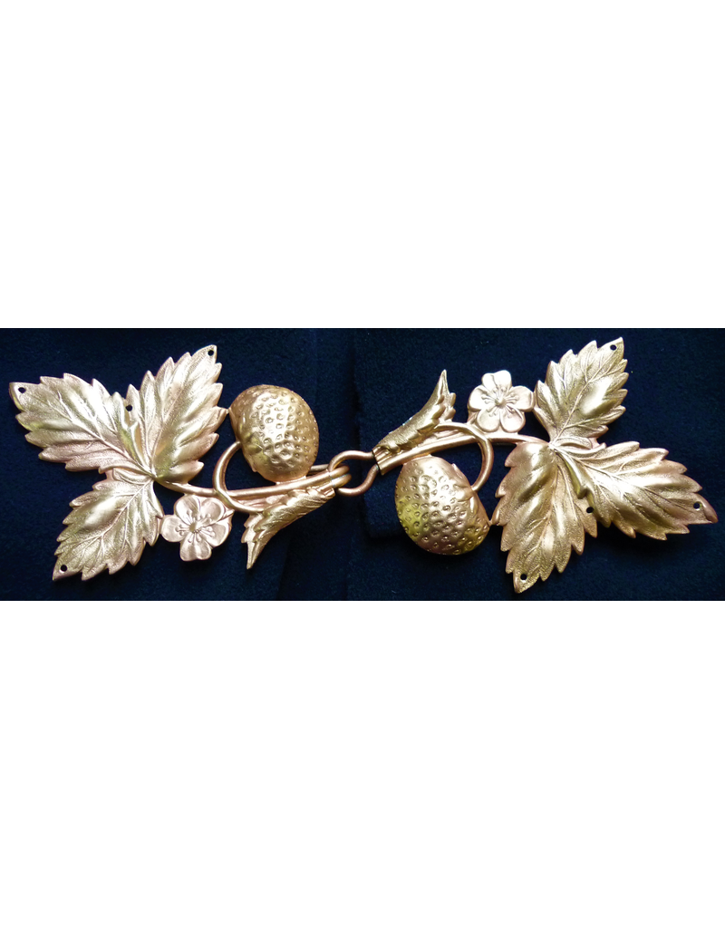 Cloak and Dagger Creations Strawberry Leaves Clasp, Jeweler's Bronze