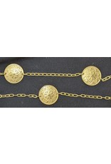 Cloak and Dagger Creations Chain Belt - 8 Petal Points Medallion on Clock-Style Chain