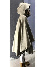 Cloak and Dagger Creations 4449 - Faun Brown Cotton Ruana-Style Cloak, Unlined Hood, Pewter Clasp