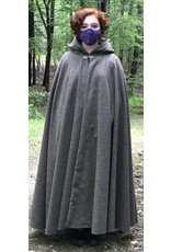Cloak and Dagger Creations 4455 - Variagated Brown Full Circle Long Cloak, Brown Hood Lining, Pewter Triple Medallion Clasp