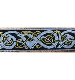 Cloak and Dagger Creations Nordic Twisty Dog, Blue/Gold on Navy