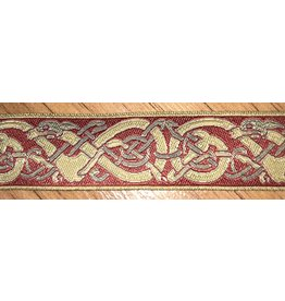 Cloak and Dagger Creations Nordic Twisty Dog,Gold/Grey on Red