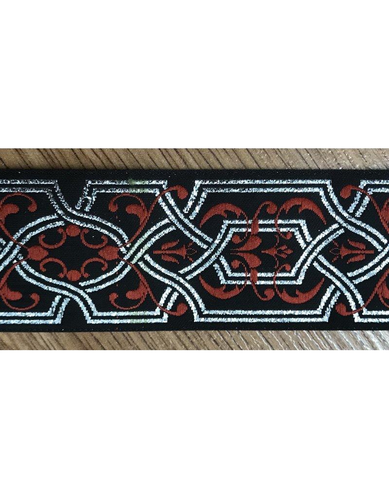 Cloak and Dagger Creations Trellis Silver w/ Red Flourish - Wide