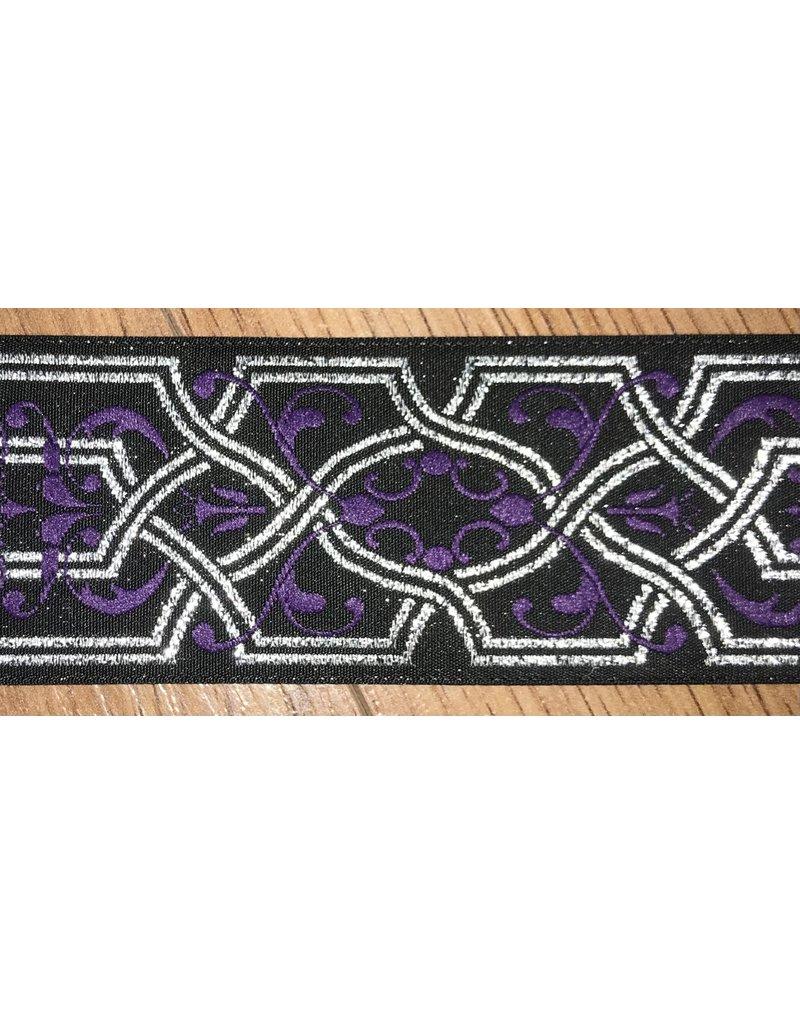 Cloak and Dagger Creations Tellis, Silver w/Purple Flourish, Wide