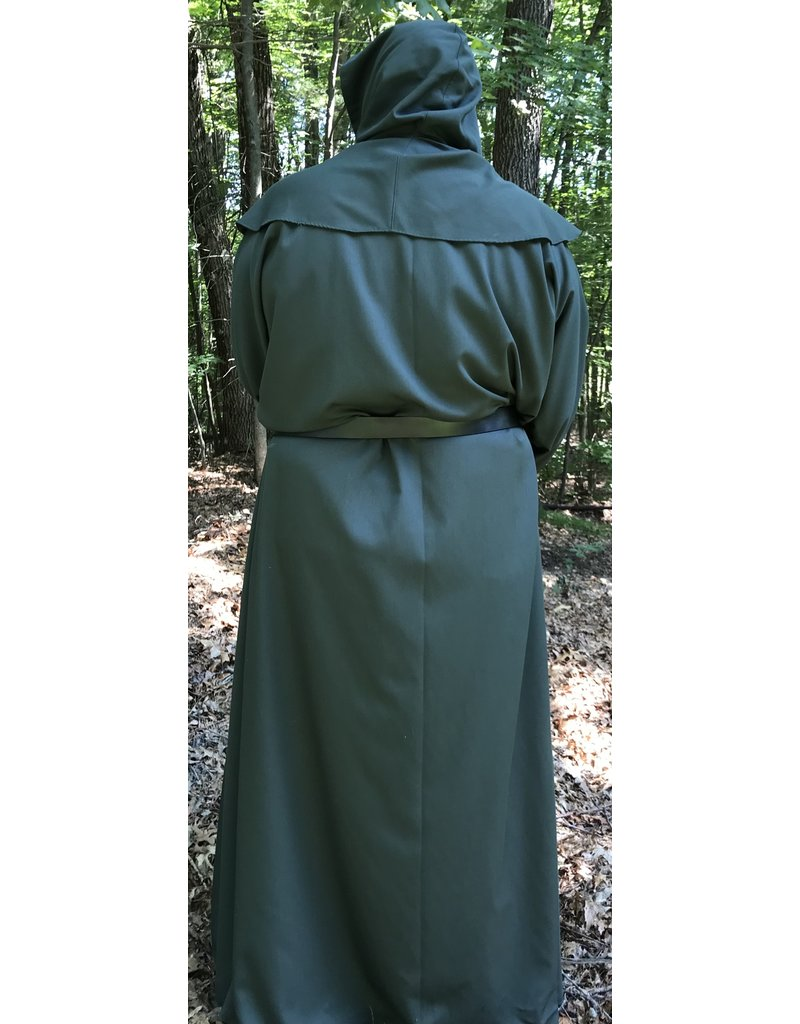 Cloak and Dagger Creations R397 - Green Polyester Monk Robe with Detached Cowl