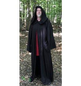 Cloak and Dagger Creations R482 - Washable Black Woolen Jedi Robe w/Pockets