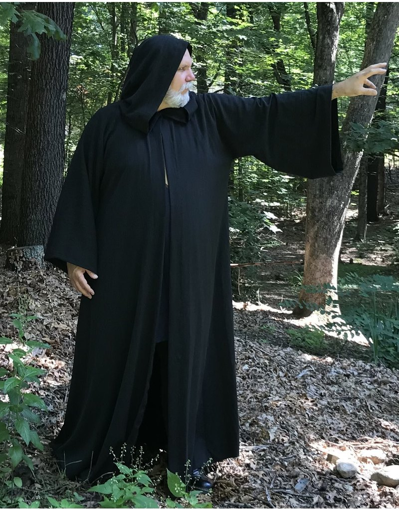 Cloak and Dagger Creations R489 - Washable Charcoal Grey Woolen Sith Robe w/Pockets, Extra Large