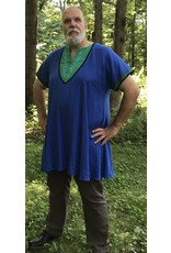 Cloak and Dagger Creations J634 - Blue Tunic. Black Trim, Green Bib Embroidered with Viking Dragons,
