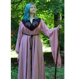 Cloak and Dagger Creations G1027 - Salmon Linen Gown w/Pockets, Long Bell Sleeves,