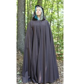 Cloak and Dagger Creations 4211 - Chocolate Brown Full Circle Summer Cloak, Pewter Vale-type Clasp